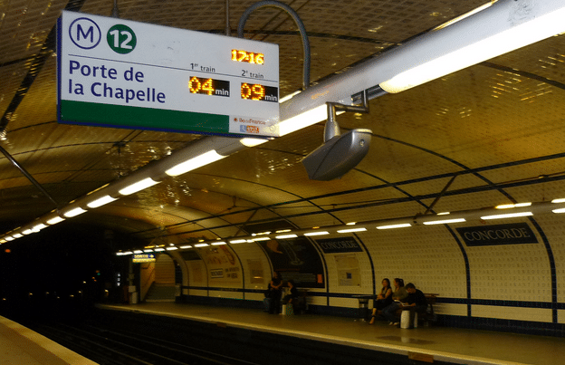 subway station in paris
